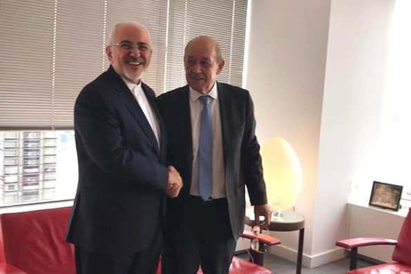 ظریف با همتای فرانسوی خود دیدار کرد